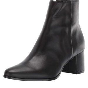 Calvin Klein Fimora Nappa Black Leather Bootie 8M
